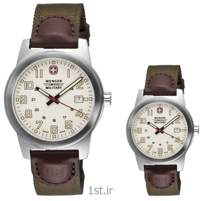 عکس ساعت مچیدو عدد ساعت مچی ست مردانه و زنانه بند چرم ونگر سوئیس (Wenger) مدلهای ۷۲۹۰۱ و ۷۲۹۲۱