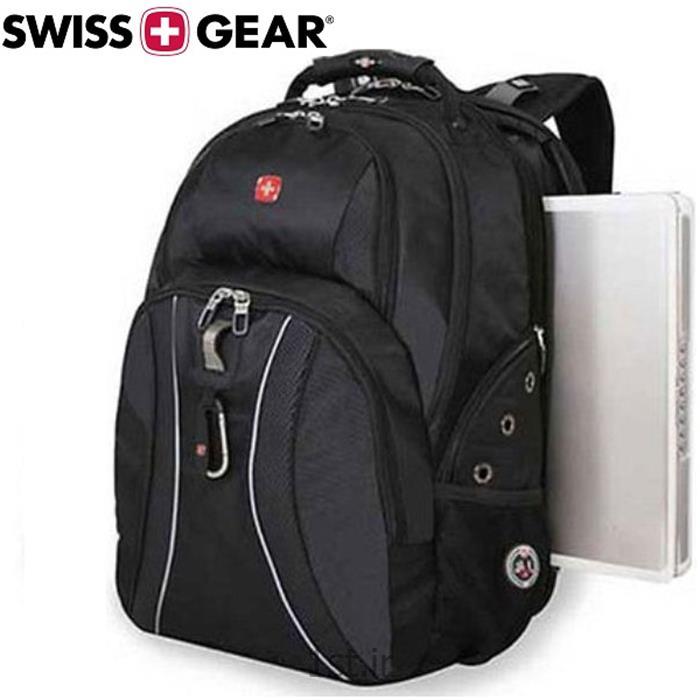 کوله پشتی لپ تاپ ونگر SwissGear مدل SmartScan Black ساخت سوئیس