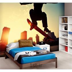 کاغذ دیواری 4 تکه 1 وال Giant مدل Skater001