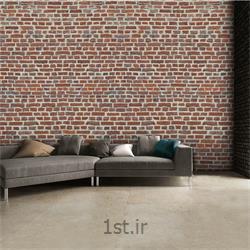 کاغذ دیواری 4 تکه 1 وال Giant مدل Redbricks001