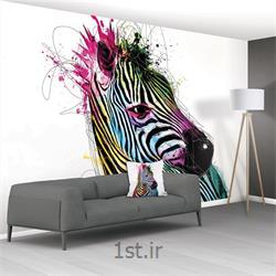 کاغذ دیواری 8 تکه 1 وال XXL مدل Zebra-001