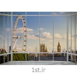 کاغذ دیواری 4 تکه 1 وال Giant مدل London017