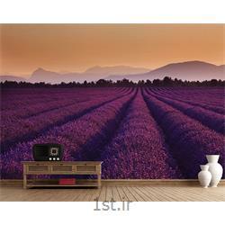 کاغذ دیواری 4 تکه 1 وال Giant مدل Lavender001