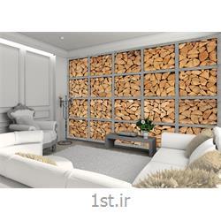 کاغذ دیواری 4 تکه 1 وال Giant مدل Logs002