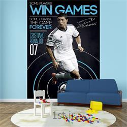عکس کاغذ دیواری و دیوار پوشکاغذ دیواری 2 تکه وان وال Deco مدل Ronaldo-001