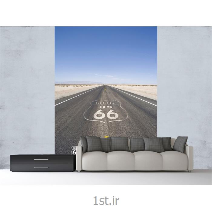 کاغذ دیواری 2 تکه وان وال Deco مدل Route66