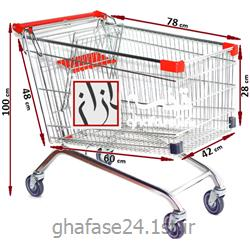عکس چرخ دستی خرید و چرخ دستی فروشگاهیچرخ خرید فروشگاهی 120 لیتری