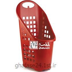 عکس چرخ دستی خرید و چرخ دستی فروشگاهیسبد خرید فروشگاهی یکپارچه 40 لیتری