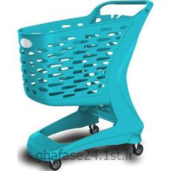 عکس چرخ دستی خرید و چرخ دستی فروشگاهیچرخ خرید فروشگاهی 90 لیتری پلاستیکی