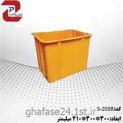 سبد صنعتی پلاستیکی مدل 2038 S درابعاد:300*300*410میلیمتر