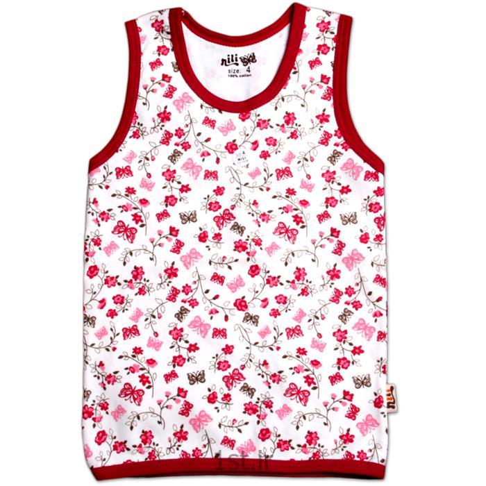 عکس پیراهن و تاپ نوزادلباس نوزاد نیلی رکابی طرح گل و پروانه