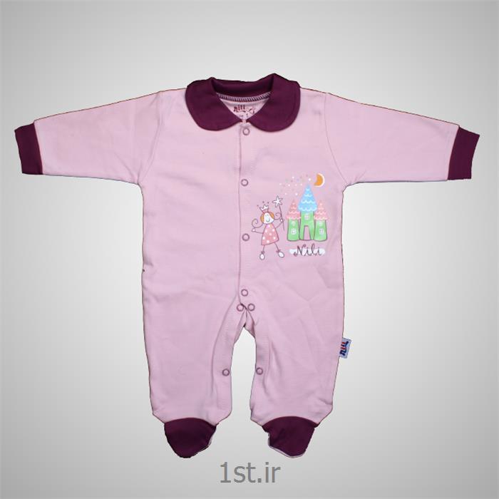لباس نوزاد نیلی سرهمی طرح پرنس