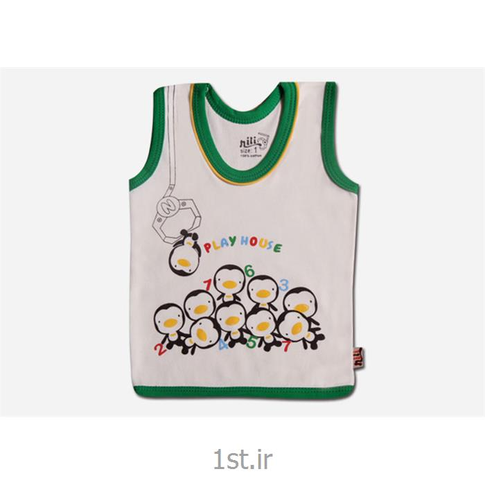 عکس لباس زیر نوزادلباس رکابی طرح پنگوئن نوزادی