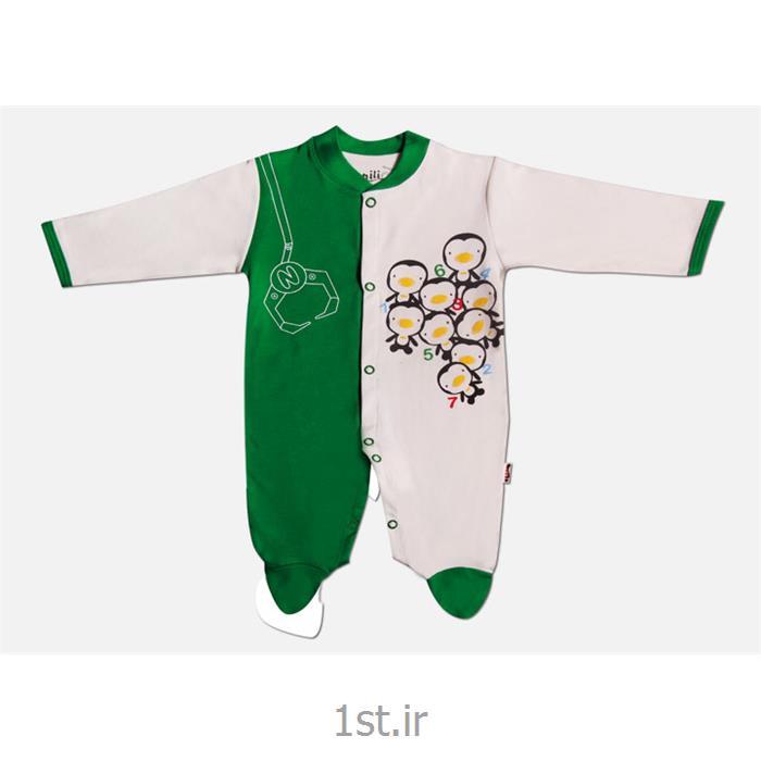 عکس لباس زیر نوزادسرهمی جورابدار طرح پنگوئن