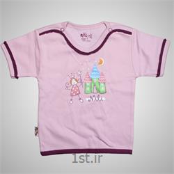 لباس نوزاد نیلی بلوز آستین کوتاه طرح پرنس
