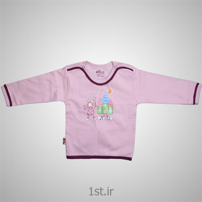 عکس تی شرت نوزادلباس نوزاد نیلی بلوز آستین بلند طرح پرنس