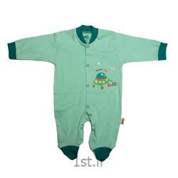 لباس نوزاد نیلی سرهمی طرح سفینه