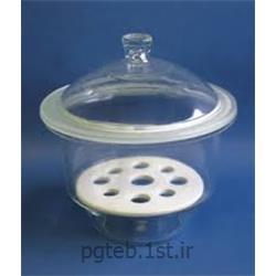 عکس بطری آزمایشگاهیدسیکاتور شیشه ای ساده کمپانی SHOTT