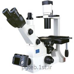 میکروسکوپ اینورت فلورسانس سه چشمی  مدل XD202  بزرگ نمایی 400 برابر