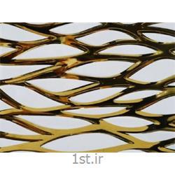 سرامیک تک گل کوتینگ مدل گلبرگ سفید طلایی 30*60