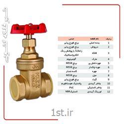 شیر کشویی برنجی سایز1/2-2 اینچ کیز ایران ( سبک )