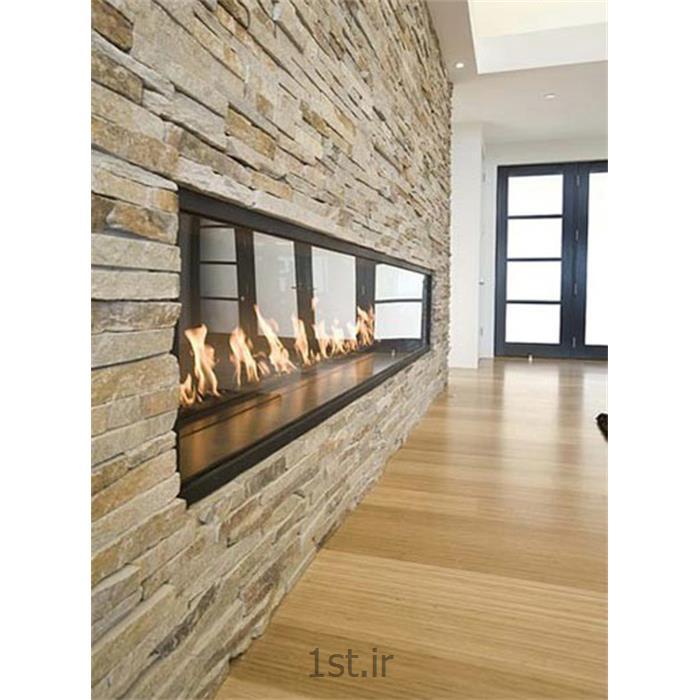 تزیین دیوار اتاق پذیرایی مدرن با سنگ های آنتیک C150<