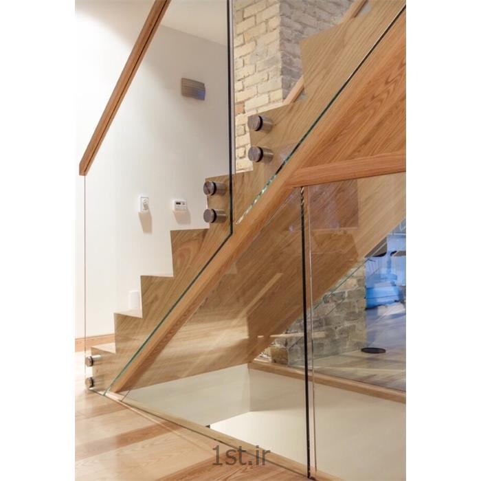 عکس نرده و حفاظنرده  آلومینیومی با سیستم حفاظ شیشه ای