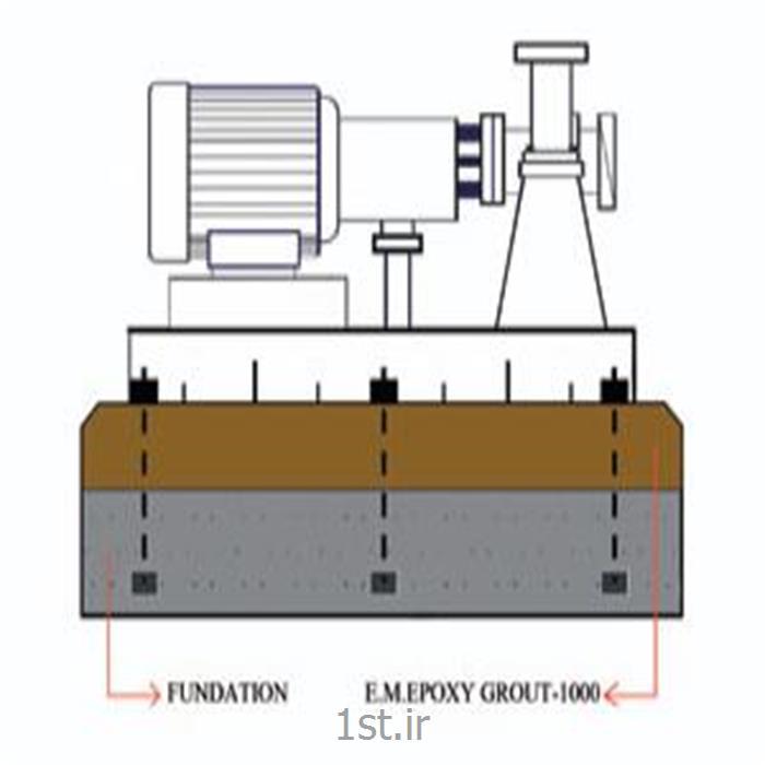 عکس ترکیبات بتون و ترکیبات ملاتگروت اپوکسی 1000 ( E.M.EPOXY GROUT-1000 )