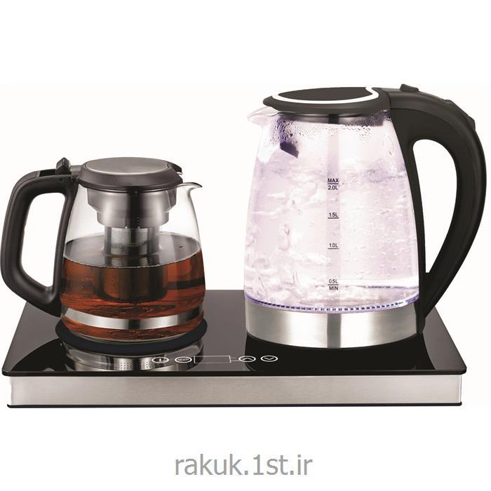 چای ساز دو قلو استیل شیشه ای راک RAK-TM3040G
