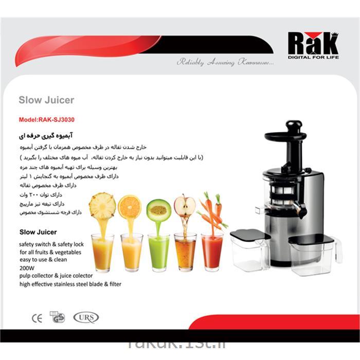 آبمیوه گیری 200 وات استیل با مخزن 1 لیتری راک مدل RAK SJ3030