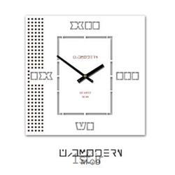 عکس ساعت دیواریساعت دیواری فانتزی فرازمان صفحه سفید مدل 09