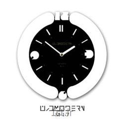 عکس ساعت دیواریساعت دیواری فانتزی فرازمان مشکی و سفید گرد مدل 17