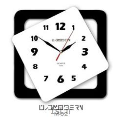 عکس ساعت دیواریساعت دیوادی فانتزی فرازمان سفید و قاب مشکی مدل 02