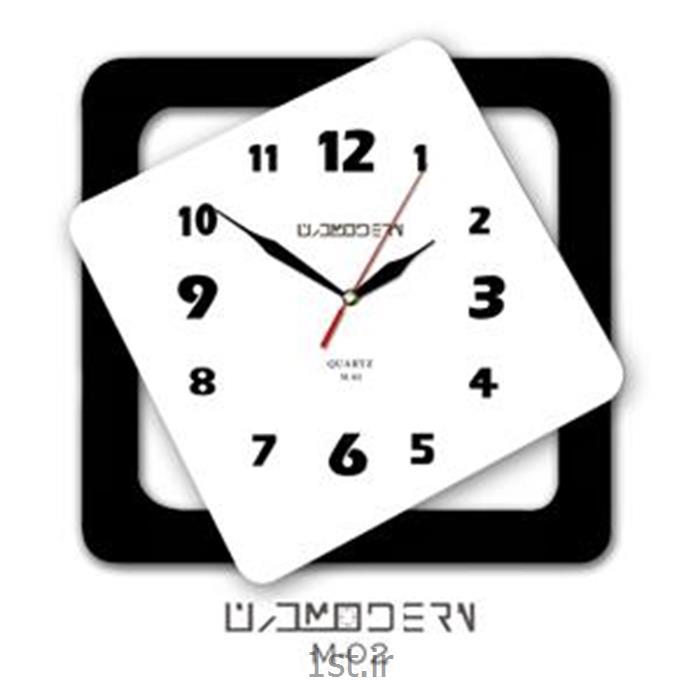 ساعت دیوادی فانتزی فرازمان سفید و قاب مشکی مدل 02