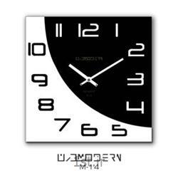 ساعت دیواری فانتزی فرازمان با اعداد سفید و مشکی مدل 14