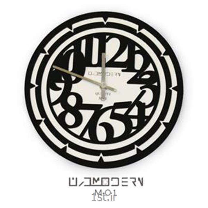 ساعت دیواری فانتزی فرازمان سفید و اعداد مشکی مدل 01
