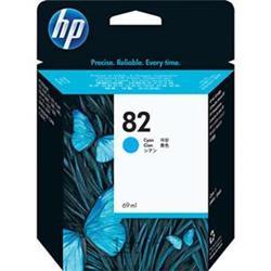 عکس جوهر کارتریجکارتریج پلاتر اچ پی 82 آبی طرح HP 82 Cyan Ink Cartridge