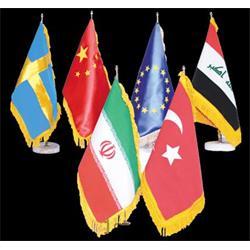 پرچم رومیزی خارجی ساتن نوع یک