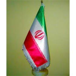 پرچم رومیزی ایران جنس ساتن نوع دو