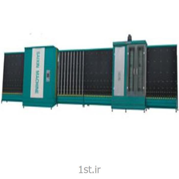 عکس ماشین آلات تولید شیشهدستگاه شستشو و پرس اتوماتیک شیشه دوجداره سایز 1800