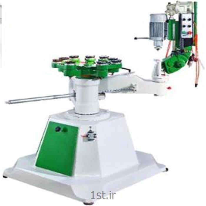 عکس ماشین آلات تولید محصولات شیشه ایفرم زن ابزار و تراش شیشه