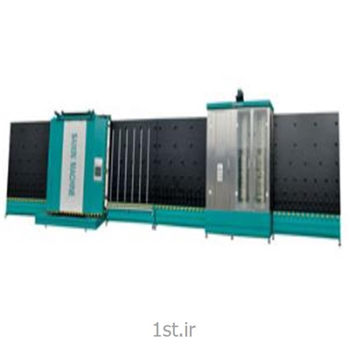 عکس ماشین آلات تولید شیشهدستگاه شستشو و پرس اتوماتیک شیشه دوجداره سایز 2000
