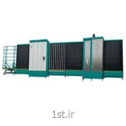 عکس ماشین آلات تولید شیشهدستگاه شستشو و پرس اتوماتیک شیشه دوجداره سایز 2200