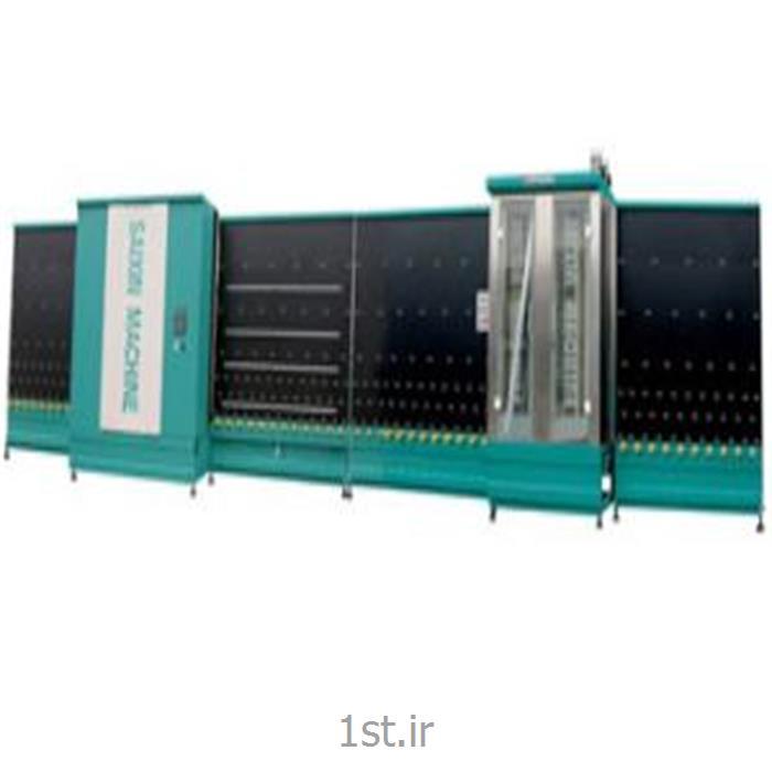 عکس ماشین آلات تولید شیشهدستگاه شستشو و پرس اتوماتیک شیشه دوجداره سایز 1600