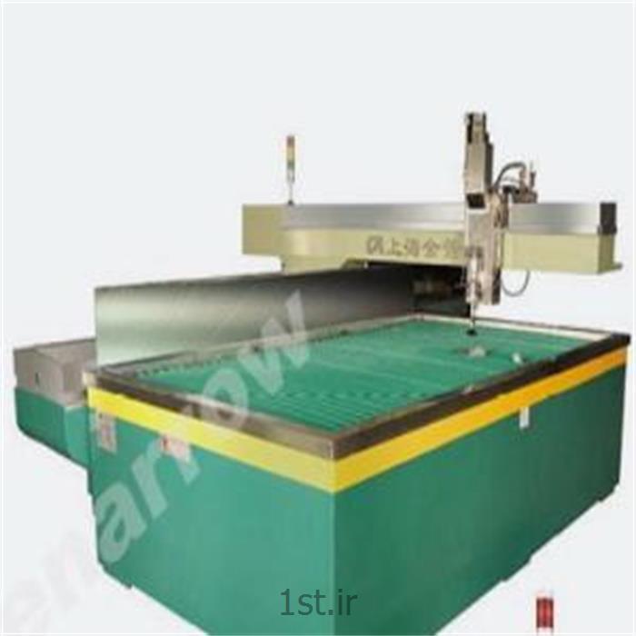 عکس ماشین آلات تولید شیشهواترجت - برش با آب