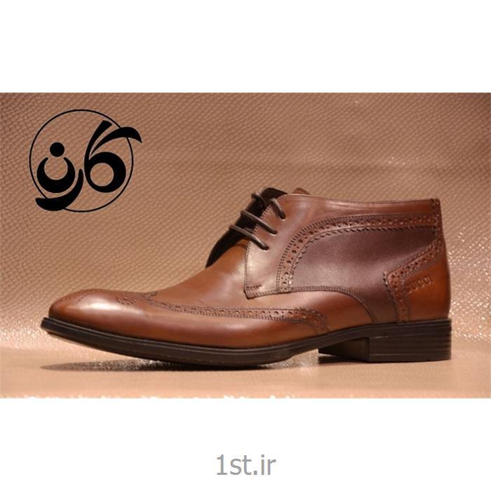 کفش مردانه نیم بوت چرم طبیعی مدل 525