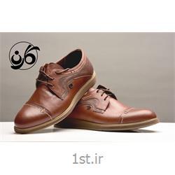 کفش مجلسی مردانه تمام چرم بنددار مدل 530