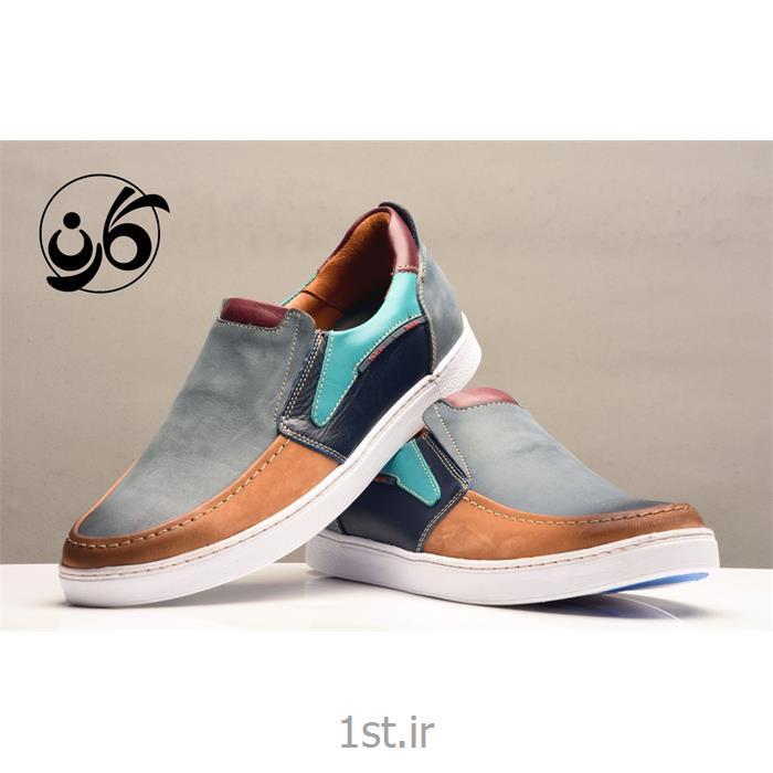 کفش مردانه کالج تمام چرم مدل 515