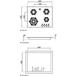 اجاق گاز شیشه ای استیل البرزG4602