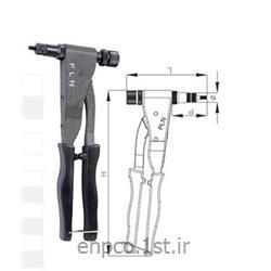 عکس ابزار و دستگاه پرچابزار جایگذاری مهره پرچی دستی پی ال ان هلندی PLN سایز M3-M5